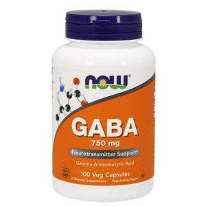 GABA 750 mg Veg Capsules (100)