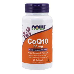 CoQ10 60 mg with Omega-3 Fish Oil Softgels (60)