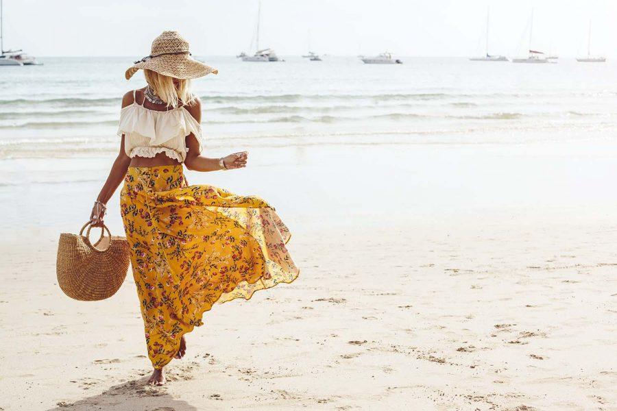 Boho beach clothing style